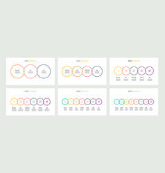 business infographics timelines with 3 4 5 6 vector image vector image