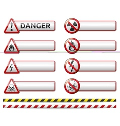 Industrial Warning Icon Stickers vector image vector image