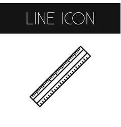 isolated scale outline length element can vector image vector image