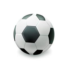 realistic footbal soccer ball vector image