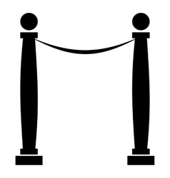 Rope barrier icon simple style vector image
