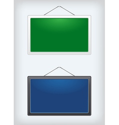 Set of two sign boards hanging on a nail vector image