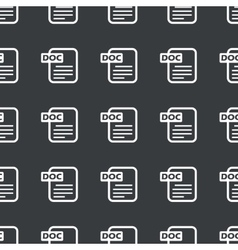 Straight black DOC file pattern vector image vector image