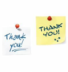 thank you notes set vector image vector image