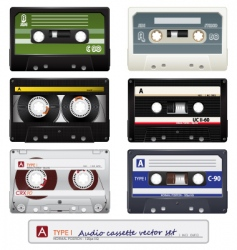 vector audio cassettes vector image vector image