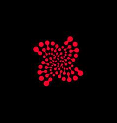 Abstract logo logo red logo circle logo vector