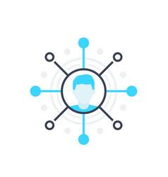 Affiliate marketing concept icon on white vector