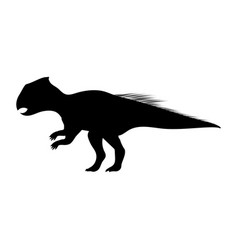 archaeoceratops silhouette dinosaur prehistoric vector image