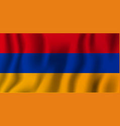 armenia realistic waving flag national country vector image