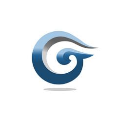 best letter g 3d art concept business logo design vector image