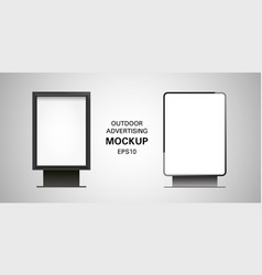 Blank billboard lightbox mockup set vector