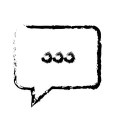 bubble speech chat dialog speak sketch vector image