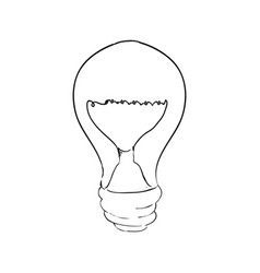 Bulb light draw vector
