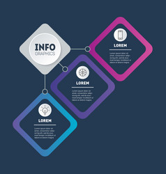 business presentation concept with 3 options vector image