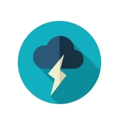 Cloud Lightning flat icon Meteorology Weather vector