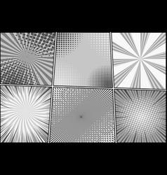 Comic book monochrome style composition vector