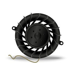 Computer fan or cooler vector image