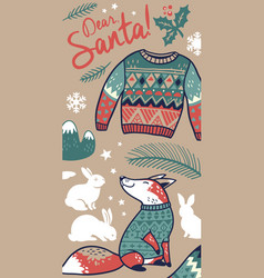 Dear santa vertical banner vector