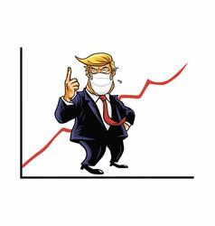 Donald trump approval ratings coronavirus crisis vector