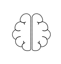 Dotted shape anatomy brain to imagination and vector