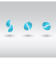 Drops logo vector