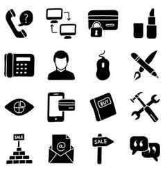 ecommerce icons bundle vector image