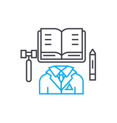 executive director thin line stroke icon vector image