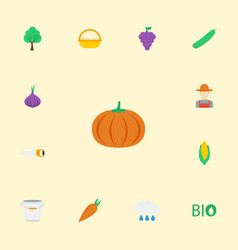 Flat icons ecology maize cloud and other vector