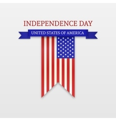 Fourth of July Stylish American Independence Day vector image