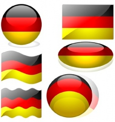 germany flags vector image