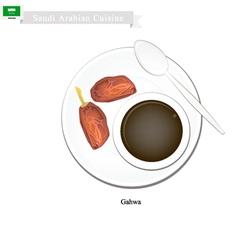 Ghava or Traditional Arabic Coffee vector image
