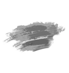 grunge style brush strokes variations gray vector image