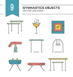 Gymnastics Icons vector