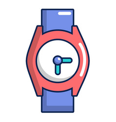 hand watch icon cartoon style vector image