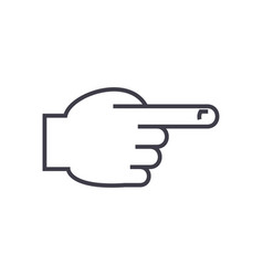 hand with pointing finger front line icon vector image