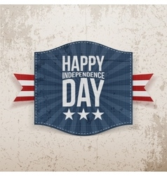 Happy Independence Day Holiday Tag vector image