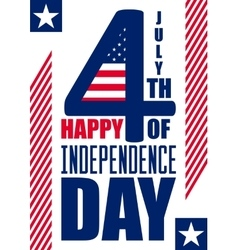 Happy Independence Day vertical background July vector