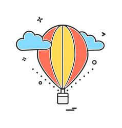 hot air balloons icon design vector image