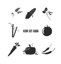 Icon set farm vector