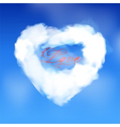 Love heart cloud with love text vector