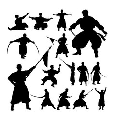 Male theatrical performance silhouettes vector