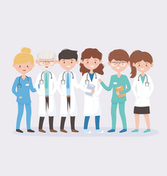 Medical staff professional practitioner team vector