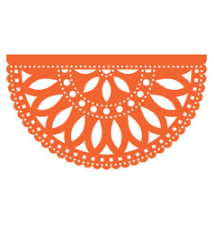 mexican party template design papel picado vector image