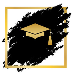 mortar board or graduation cap education symbol vector image