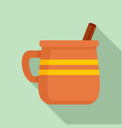 mug of mexican drink icon flat style vector image