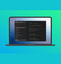 programming and coding software web development vector image