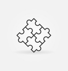 puzzle concept outline icon or sign vector image