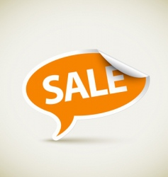 retail sale sticker vector image