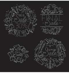 Sale monograms black vector image