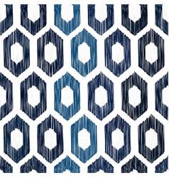 sashiko seamless indigo dye pattern vector image